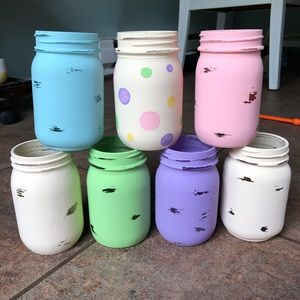 Other - mason jar set of 7 | centerpieces | baby shower